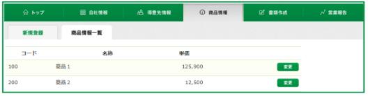 商品情報画面